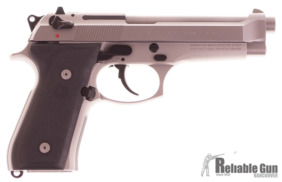 Picture of Used Beretta 92FS Inox Semi-Auto 9mm, Rubber Grips, With One Mag & Original Case, Very Good Condition