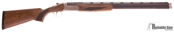 """Picture of Used Akkar Churchill Over-Under 12ga, 3"""" Chambers, 28"""" Barrels, With 5 Extended Chokes & Original Case, Excellent Condition"""