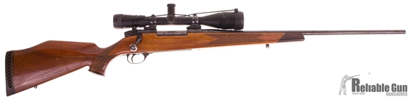 "Picture of Used Weatherby Mark V Deluxe Bolt-Action 257 Wby Mag, 24"" Barrel, With Bausch & Lomb 2.5-10x50mm Scope, Good Condition"