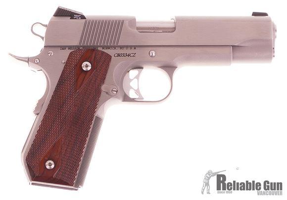 Picture of Used Dan Wesson Classic Commander Semi-Auto 45 ACP, Trijicon Sights, 3 Mags & Original Case, Very Good Condition