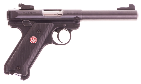 "Picture of Used Ruger Mk IV Target Semi-Auto 22LR, 5.5"", Blued, Adjustable Rear Sights, 2 Mags, As New Condition Unfired"
