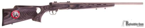"""Picture of Used Savage B Mag Bolt-Action Rifle - 17 WSM, 22"""" Stainless Heavy Barrel, Laminate Thumbhole Stock, Accutrigger, Bases, New In Box/ Salesman Sample"""