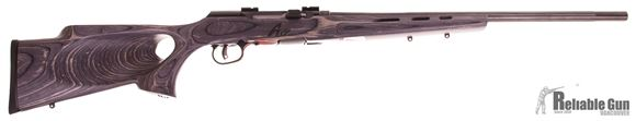 """Picture of Used Savage A17 Target Semi-Auto Rifle - 17 HMR, 22"""" Fluted Heavy Barrel, Gloss Blued, Laminate Thumbhole Stock, Bases, New in Box/ Salesman Sample"""