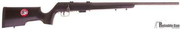 """Picture of Used Savage 93R17 TR Bolt-Action Rifle - 17 HMR, 22"""" Fluted Heavy Barrel, Matte Blued, Matte Black Wood Stock, 5rds, AccuTrigger, Bases, New in Box/ Salesman Sample"""