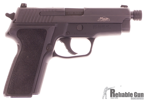 """Picture of Used Sig Sauer P229 SAS Semi-Auto 9mm, 4.5"""" Threaded Barrel, SRT Trigger, Night Sights, With 2 Mags & Original Box, As New Condition Unfired"""