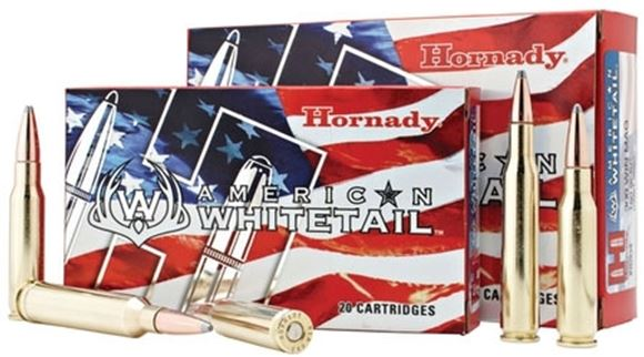 Picture of Hornady American Whitetail Rifle Ammo - 30-06 Sprg, 150Gr, InterLock SP American Whitetail, 20rds Box