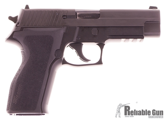 Picture of Used Sig Sauer P226 40 S&W Pistol - 2 Magazines, E2 Grip & Original Grip, Box, Manual Good Condition Made In Germany