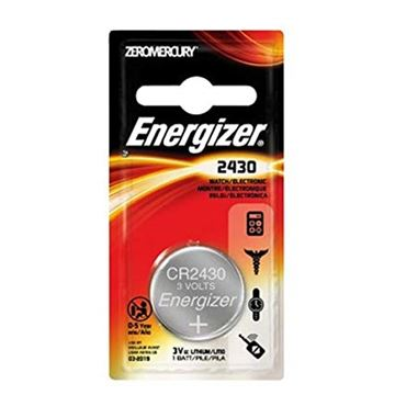 Picture of Energizer Batteries, Speciality Batteries, Coin Lithium Batteries - Energizer Coin Lithium 2430 Battery, 3V