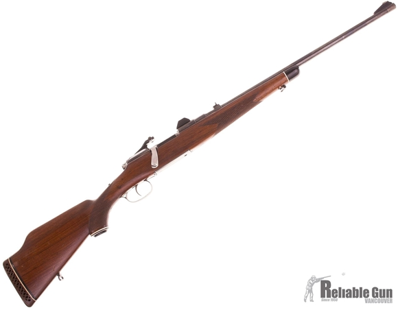 Used Steyr Mannlicher Model MC Bolt Action Rifle, 30-06 Sprg, 22'' Barrel  w/Sights, Walnut Half Stock, Redfield Scope Bases, Good Condition