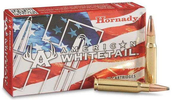 Picture of Hornady American Whitetail Rifle Ammo - 6.5 Creedmoor, 129Gr, Interlock Spire Point, 200rds Case
