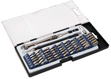 """Picture of Wheeler Engineering Fine Gunsmith Equipment - Precision Micro Screwdriver Set, Extendable Handle from 3-3/4"""" to 5-1/2"""", Organized Carry/ Storage Case, 58 Piece Set"""