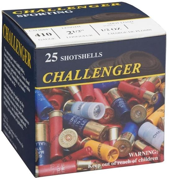 "Picture of Challenger Game Loads Shotgun Ammo - .410"", 2-1/2"", 1/2 oz, #4, 25rds Box"