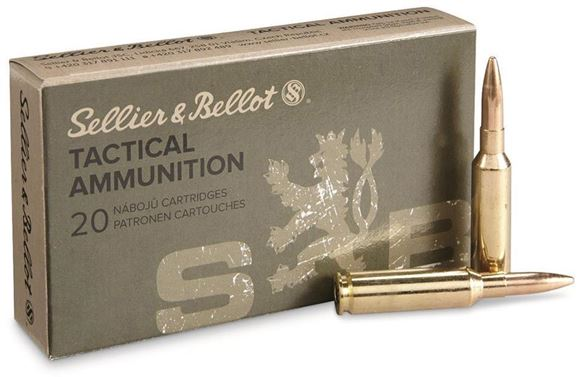 Picture of Sellier & Bellot Rifle Ammo - 6.5 Creedmoor, 140Gr, FMJBT, 500rds Case