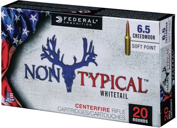 Picture of Federal Non-Typical Whitetail Rifle Ammo - 6.5 Creedmoor, 140gr, Soft Point, 200rds Case