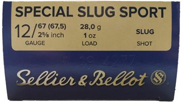 "Picture of Sellier & Bellot Hunting Shotgun Ammo, Special Slug Sport - 12Ga, 2-5/8"", 1oz, Slug, 25rds Box"