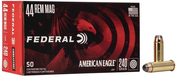 Picture of Federal American Eagle Handgun Ammo - 44 Rem Mag, 240Gr, JSP, 1000rds Case