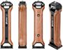 Picture of Leofoto VC-1 Cell Phone Video Kit - Phone Holder, Wood Handle, Aluminum, Hard Anodized Finish
