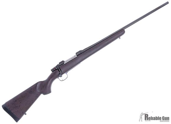 """Picture of Used CZ 550 American Bolt Action Rifle -  9.3x62mm, 24"""", Blued, Synthetic Stock Custom Painted Brown w/ Black Webbing, Set Trigger, Warne 1"""" Rings, CZ Original Takeoff Stock for 9.3x62 (30-06) Included, Excellent Condition"""