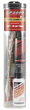 Picture of Slip 2000 Lubricants, Rookie Ultimate Pistol Cleaning Kit - .22/.357 - 9mm/.40/.45 Pistol Brushes, Brass Patch Holderr, 1 Rod w/ Handle, 1oz. Slip2000 Gun Lube, 2oz. 725 Gun Cleaner, Slip2000 Gun Wipe Patches