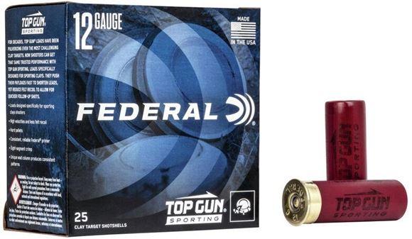 "Picture of Federal Top Gun Target Load Shotgun Ammo - 12Ga, 2-3/4"", 3 DE, 1oz, #8, 1250FPS, 250rds Case"